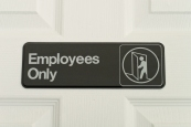 Employees only breakroom
